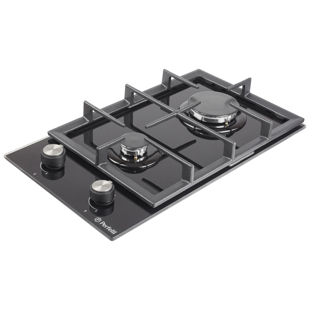 Gas surface Domino on glass Perfelli HGG 31424 BL