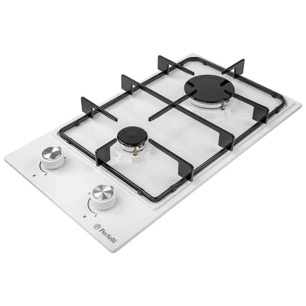 Поверхня газова Domino на металі Perfelli HGM 31414 WH