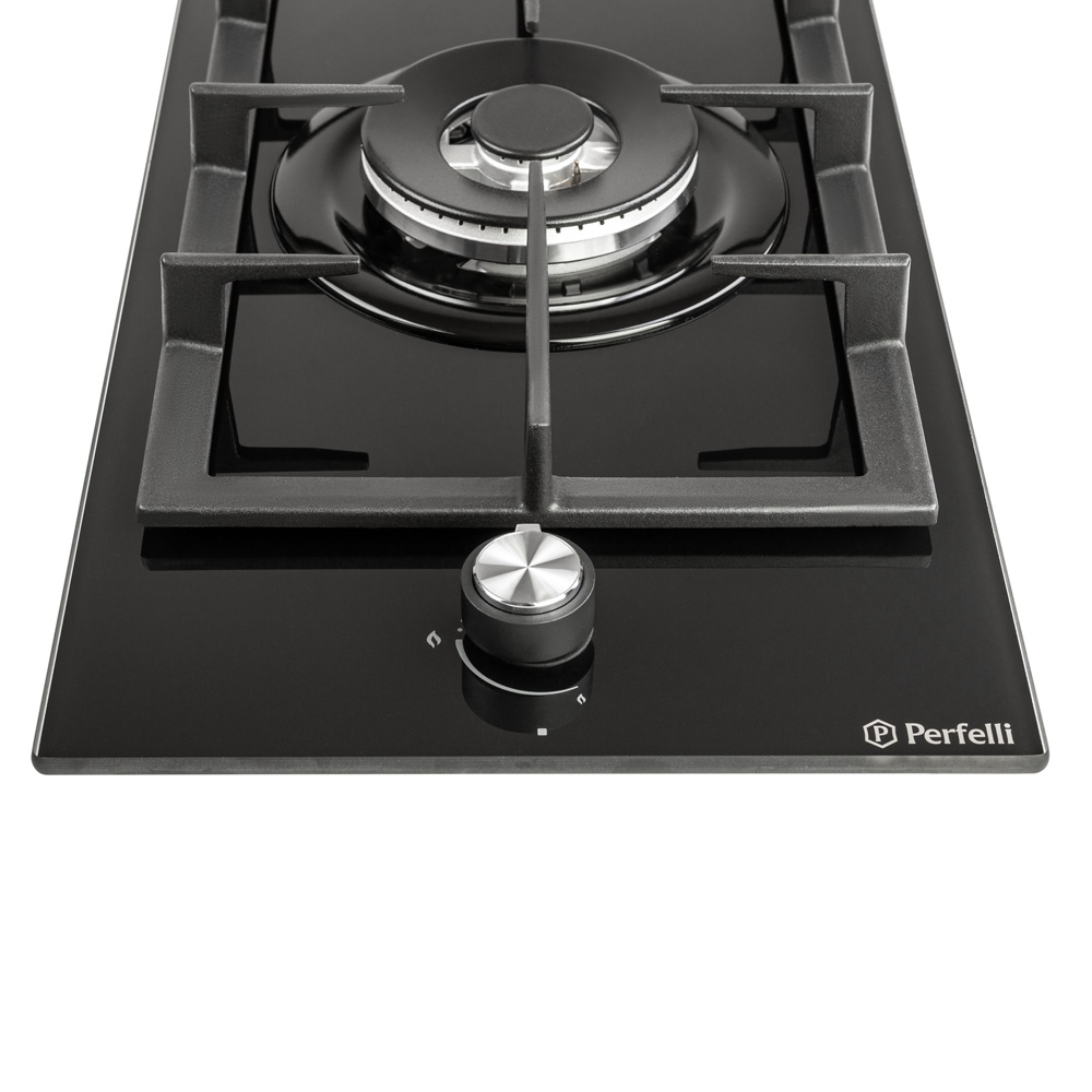 Gas surface Domino on glass Perfelli HGG 31404 BL
