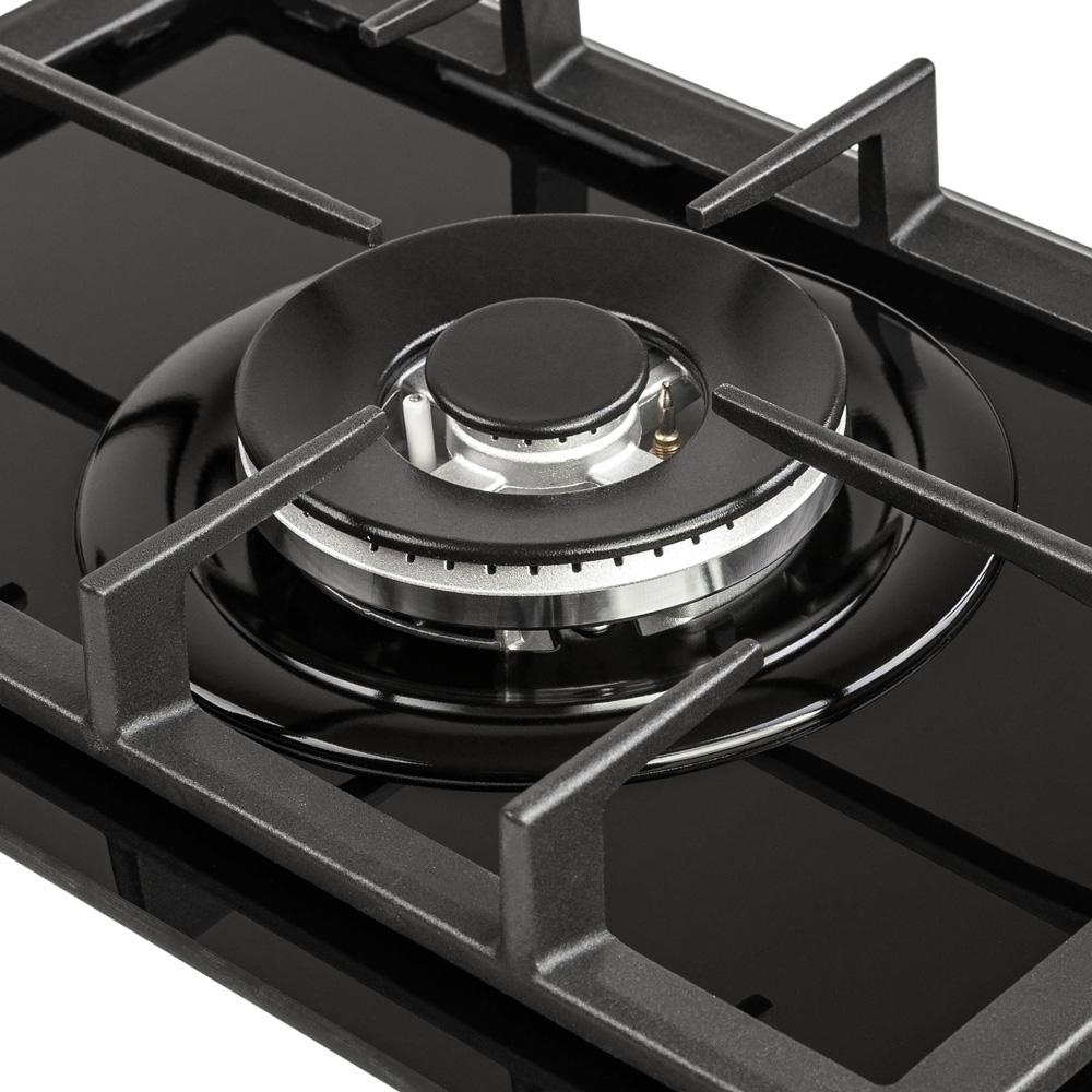 Поверхня газова Domino на склі Perfelli HGG 31404 BL
