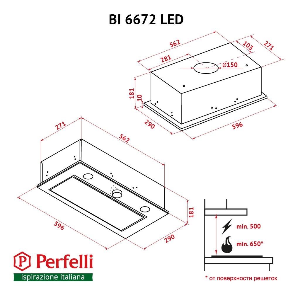 Fully built-in Hood Perfelli BI 6672 I LED