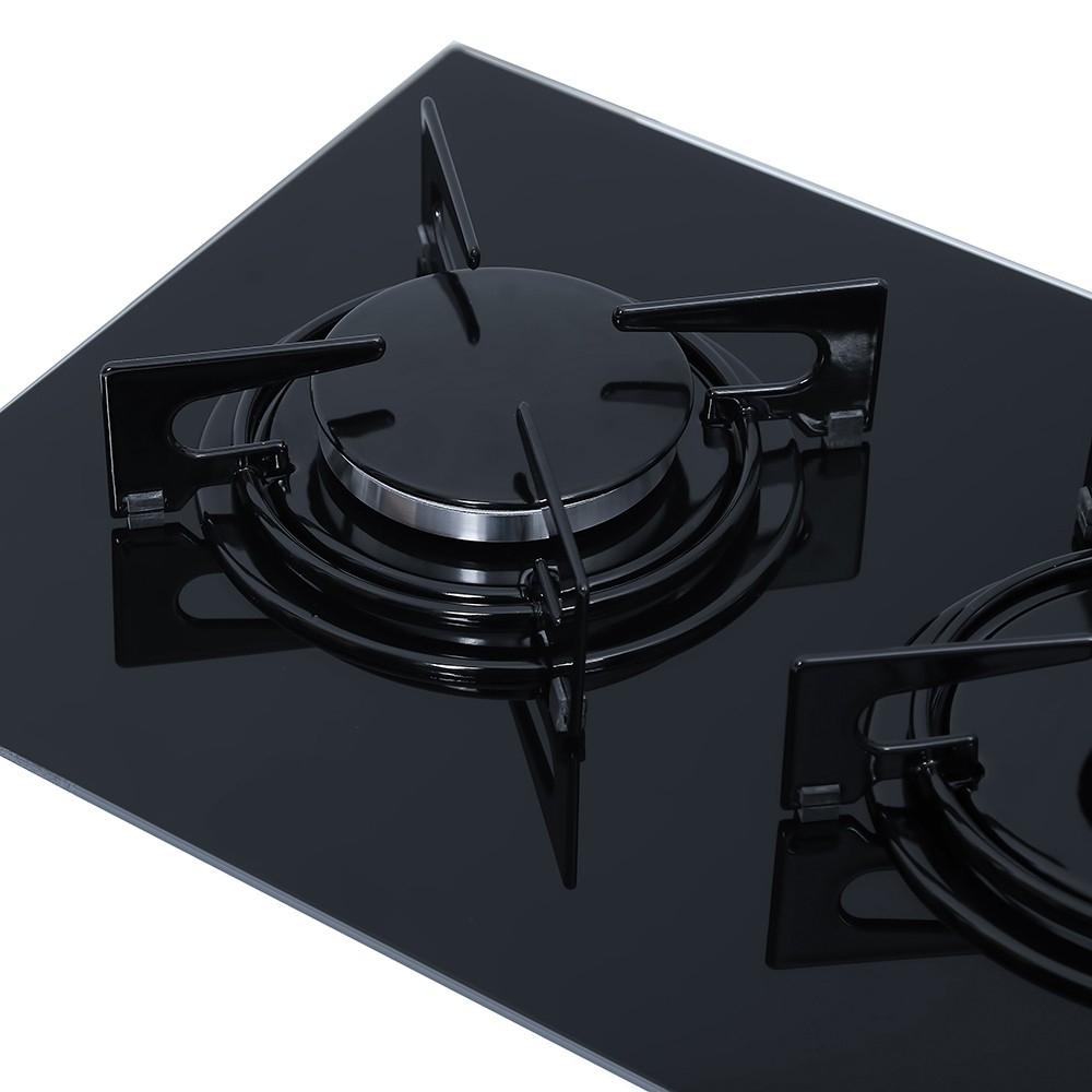 Поверхность газовая Domino на стекле Perfelli HGG 313 BL