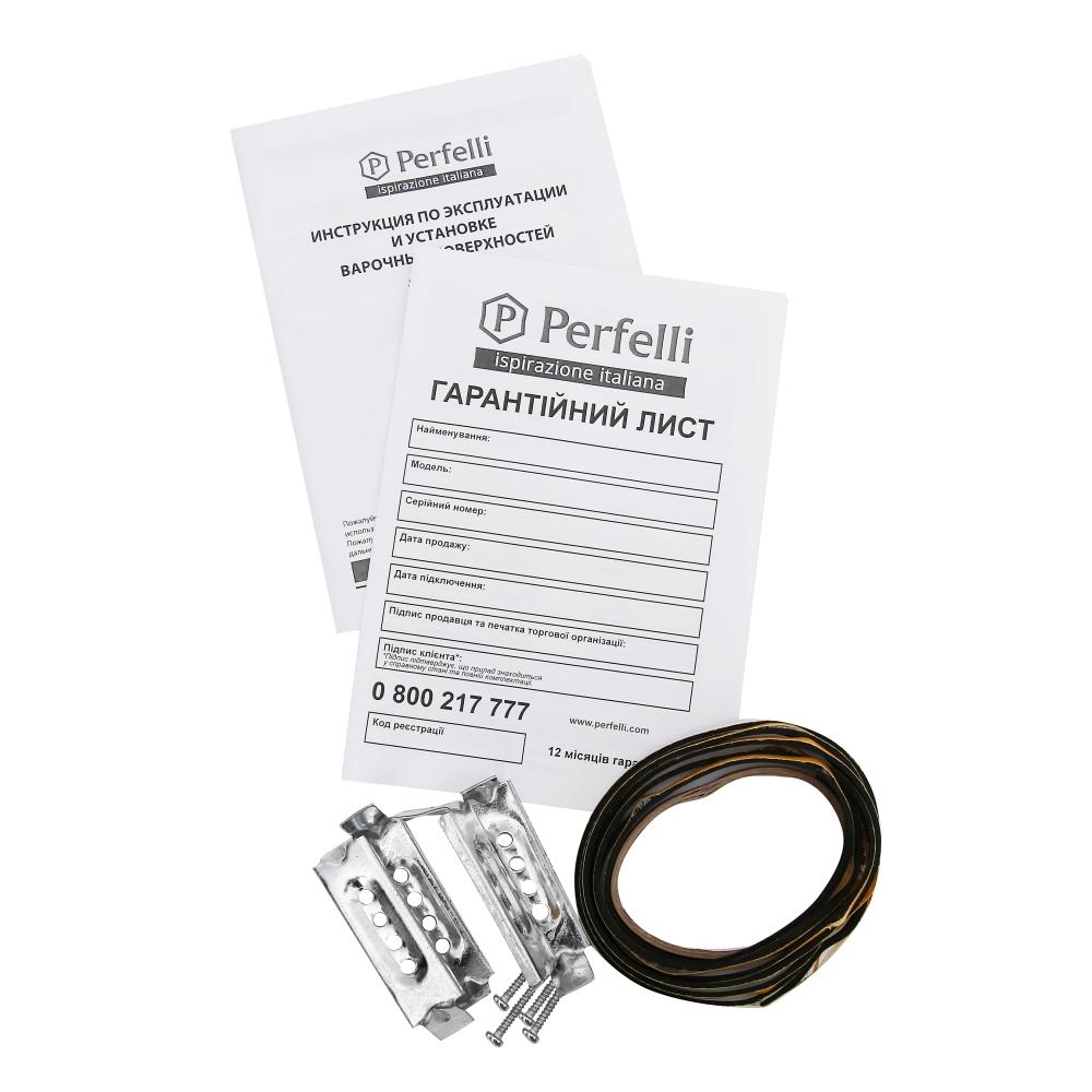 Поверхность газовая Domino на металле Perfelli HGM 31023 WH
