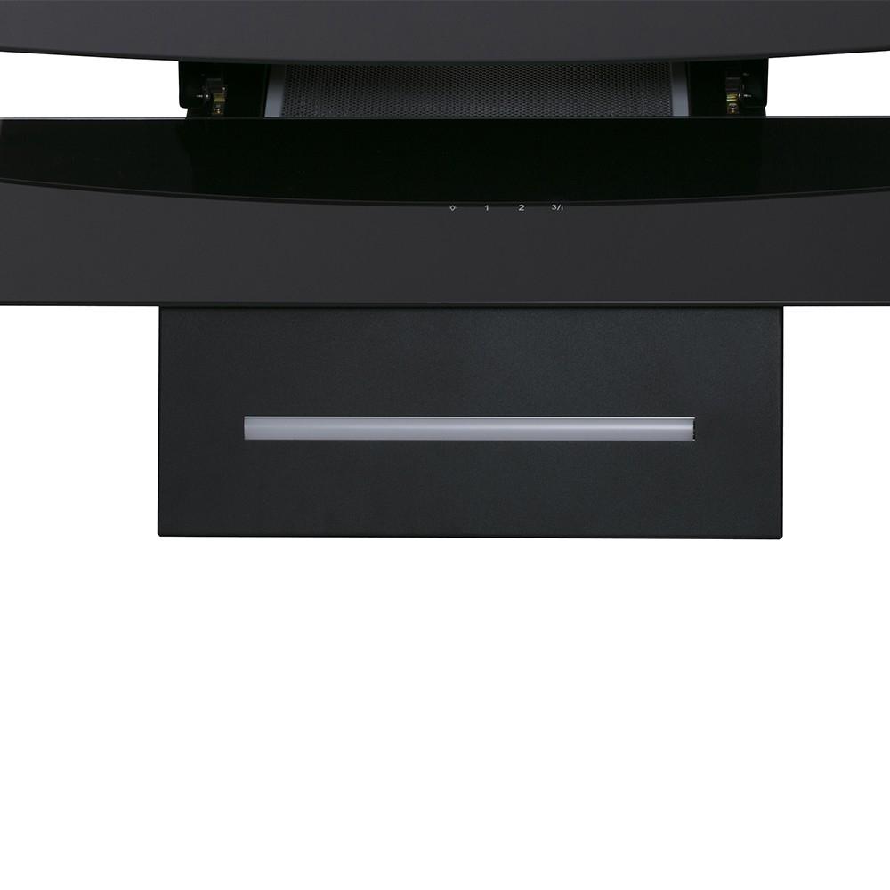 Вытяжка декоративная наклонная Perfelli DNS 6343 B 750 BL LED Strip