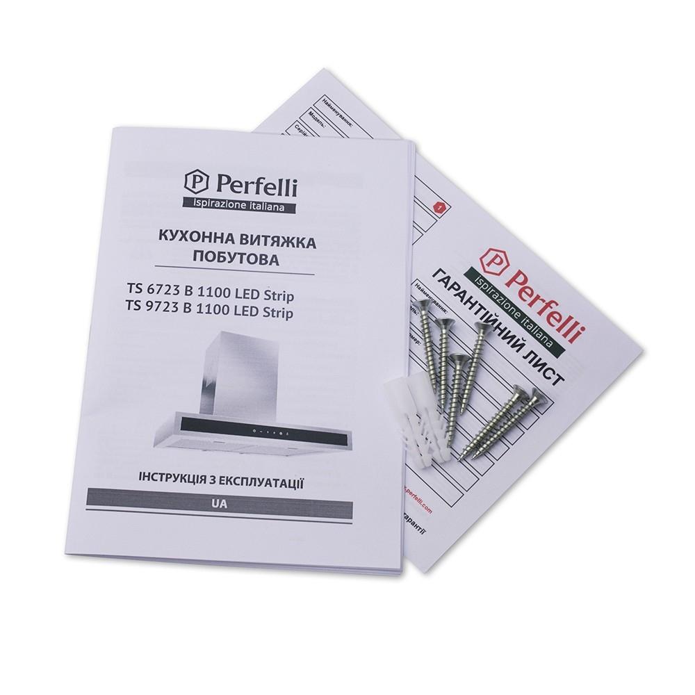 Вытяжка декоративная Т-образная Perfelli TS 6723 B 1100 I/BL LED Strip