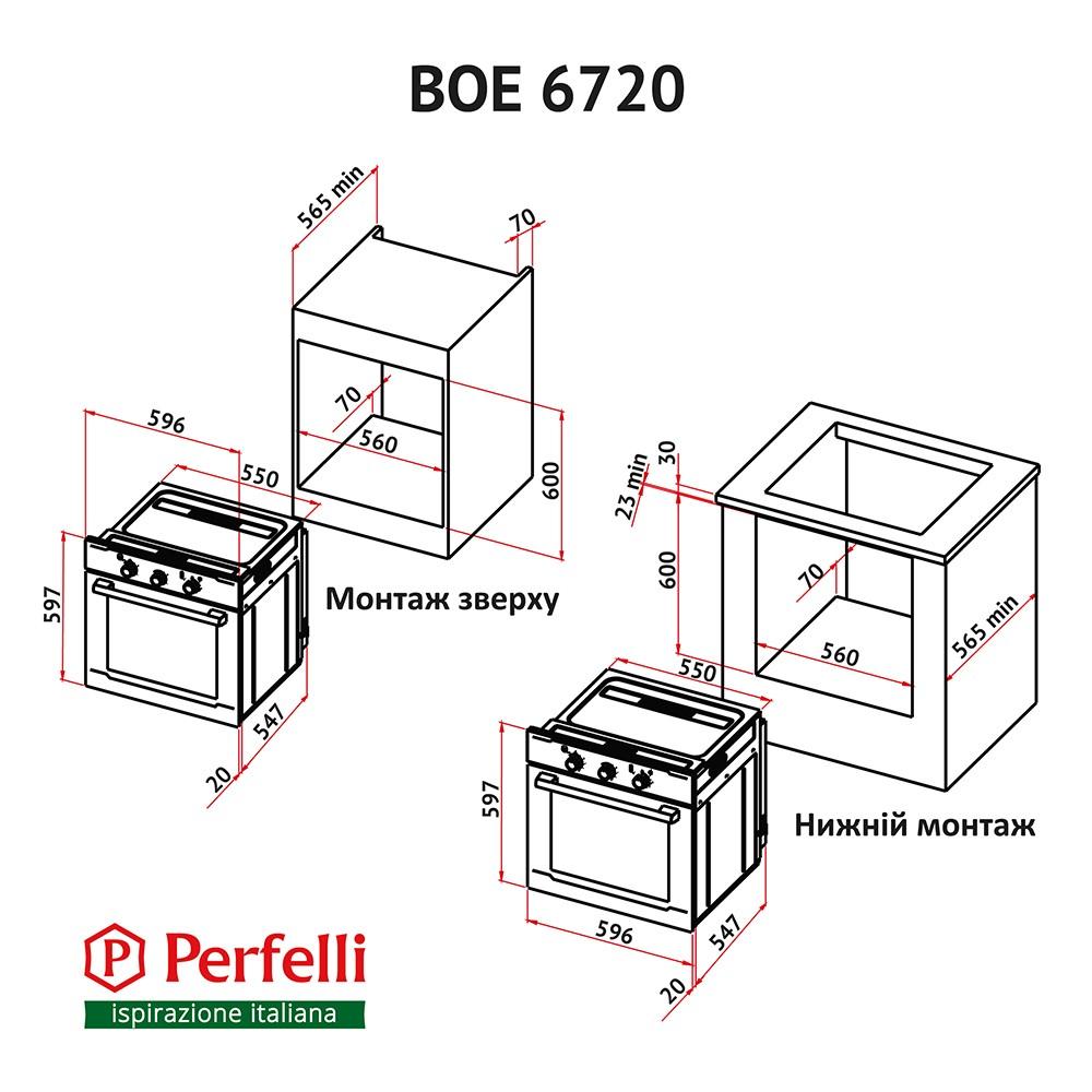 Oven Perfelli BOE 6720 BL
