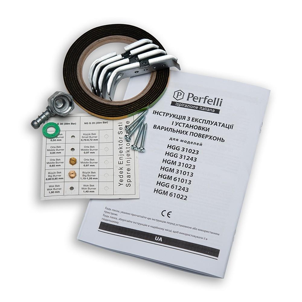 Поверхность газовая на металле Perfelli HGM 61013 WH