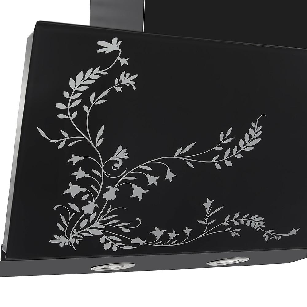 Вытяжка декоративная наклонная Perfelli D 611 BL Fleur