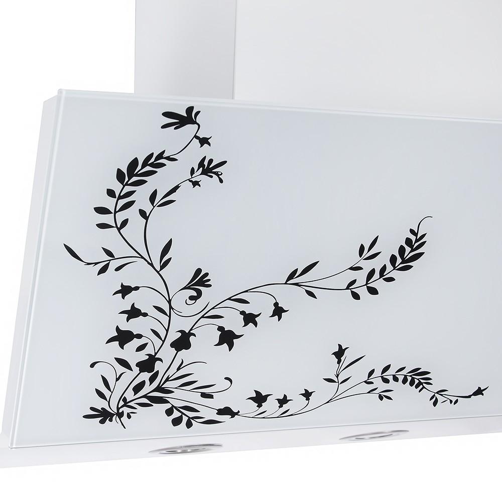 Вытяжка декоративная наклонная Perfelli D 611 W Fleur