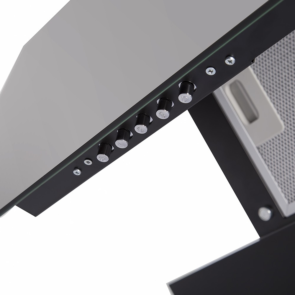 Вытяжка декоративная наклонная Perfelli DN 6322 BL LED
