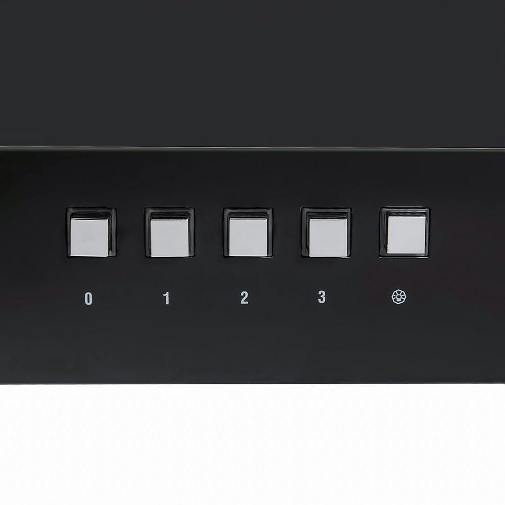 Вытяжка декоративная наклонная Perfelli DN 6572 BL LED
