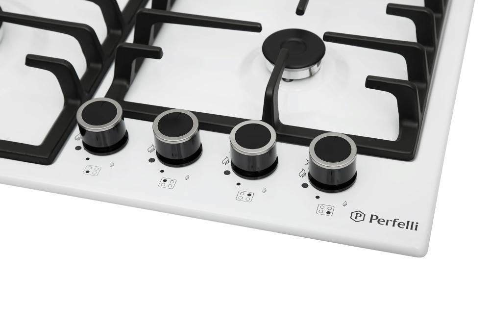 Поверхность газовая на металле Perfelli HGM 61023 WH