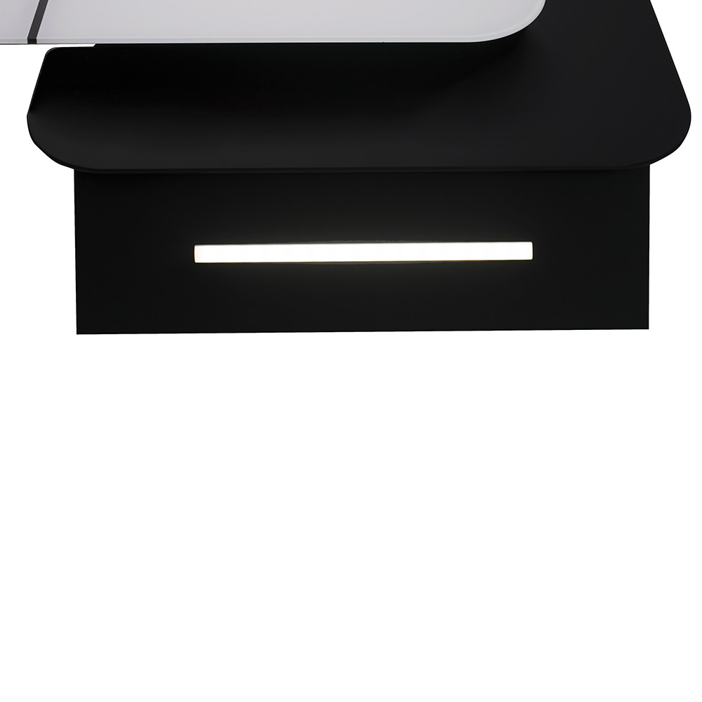 Decorative Incline Hood Perfelli DNS 6753 B 1100 WH/BL LED Strip