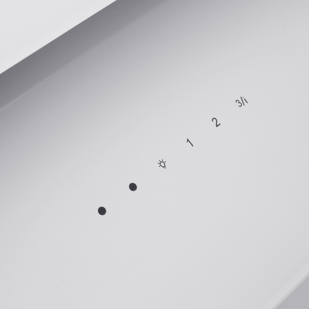 Вытяжка декоративная наклонная Perfelli DNS 6763 B 1100 WH LED Strip