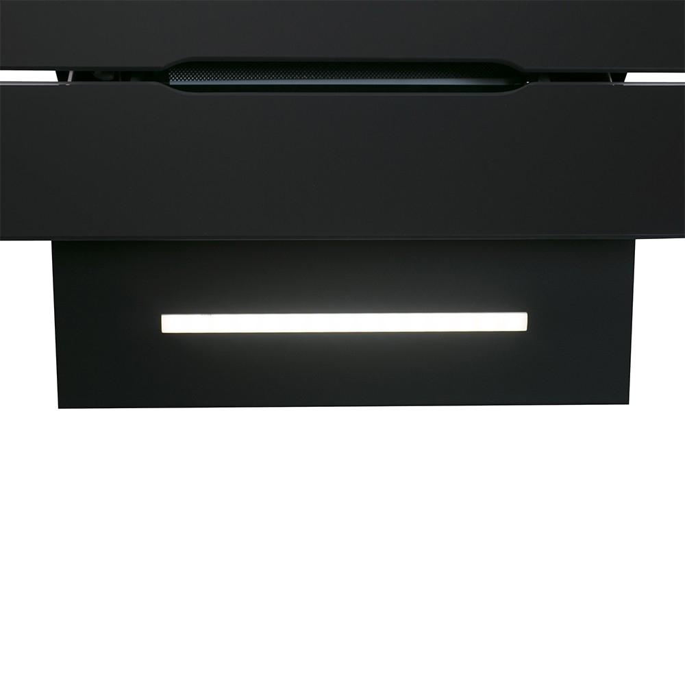 Вытяжка декоративная наклонная Perfelli DNS 6793 B 1100 BL LED Strip