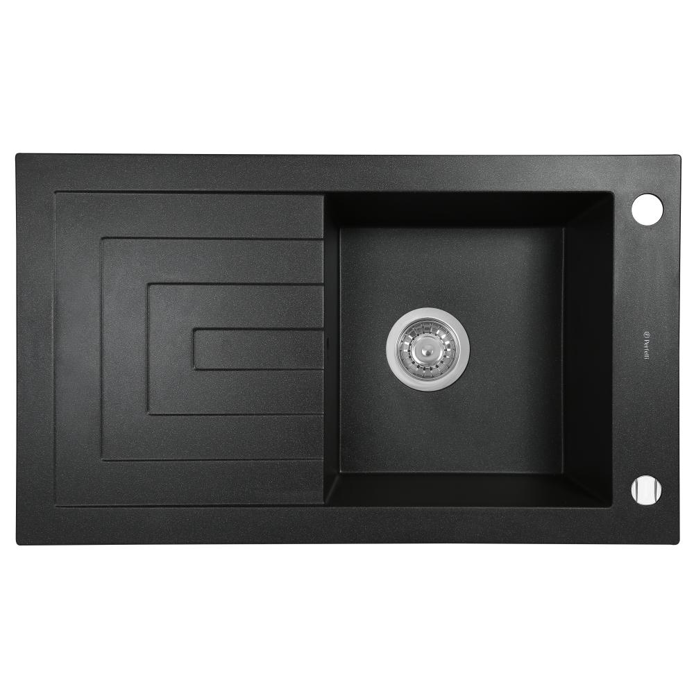 Granite kitchen sink Perfelli AZZURO PGA 115-78 BLACK