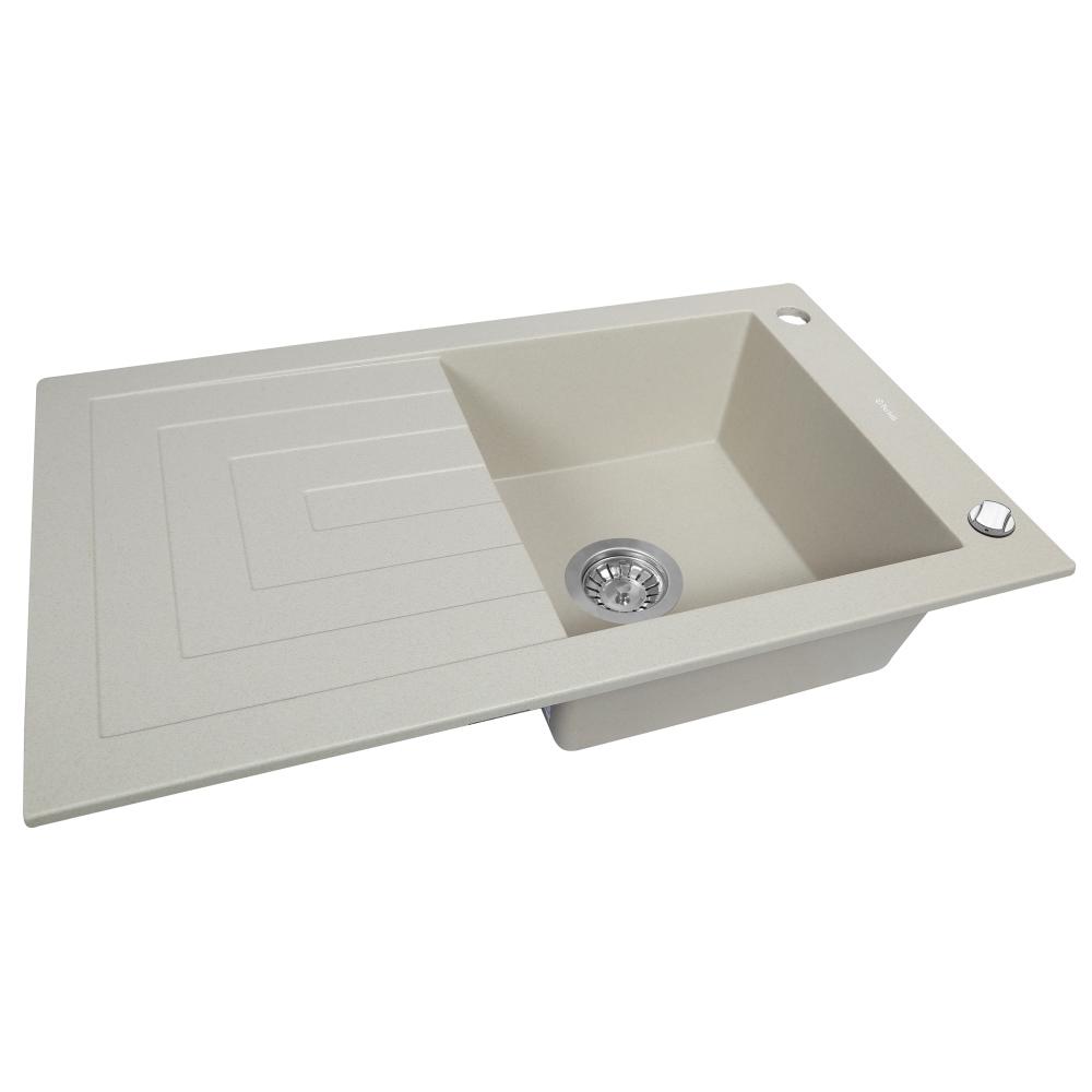 Lavello da cucina in granito Perfelli AZZURO PGA 115-78 LIGHT BEIGE