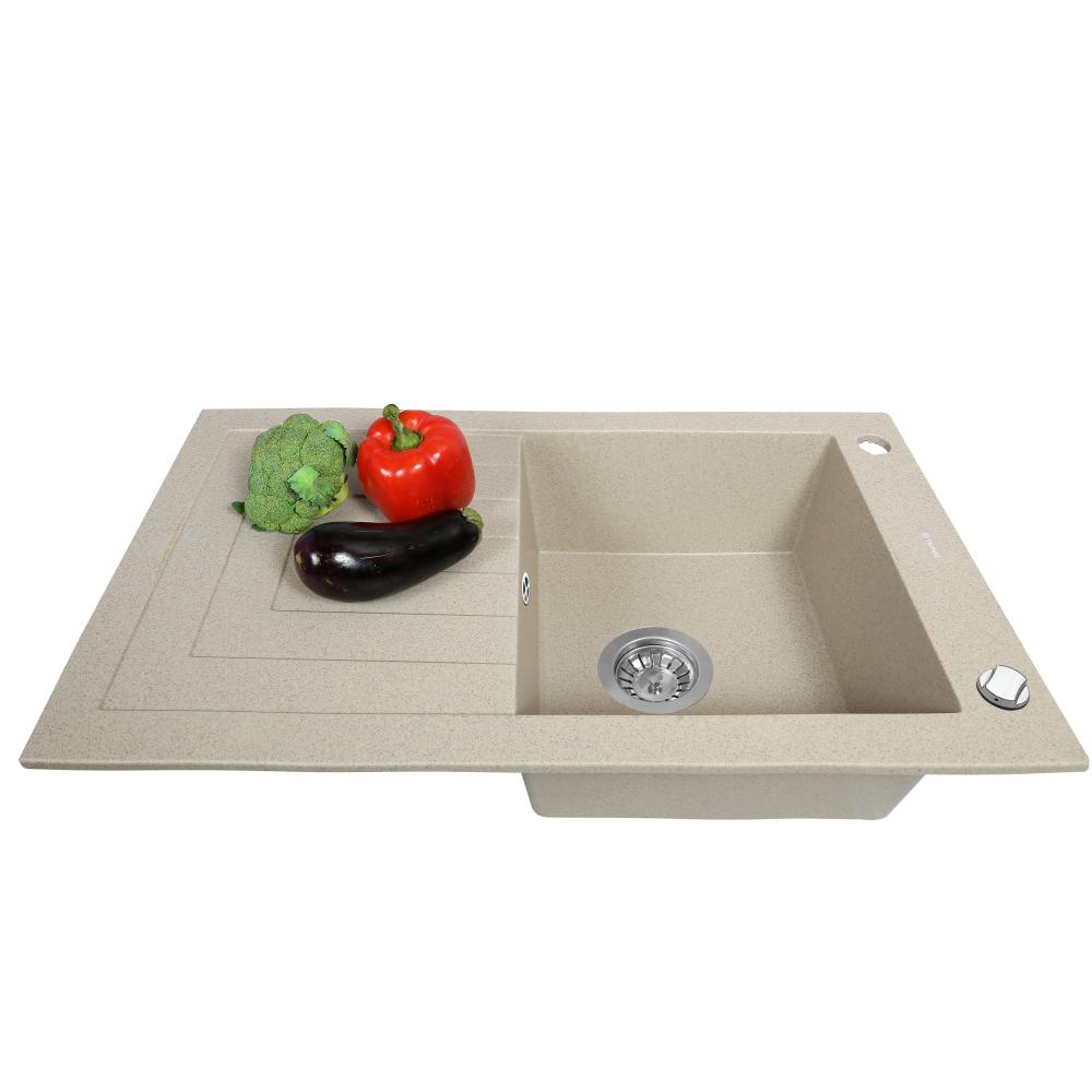 Granite kitchen sink Perfelli AZZURO PGA 115-78 SAND
