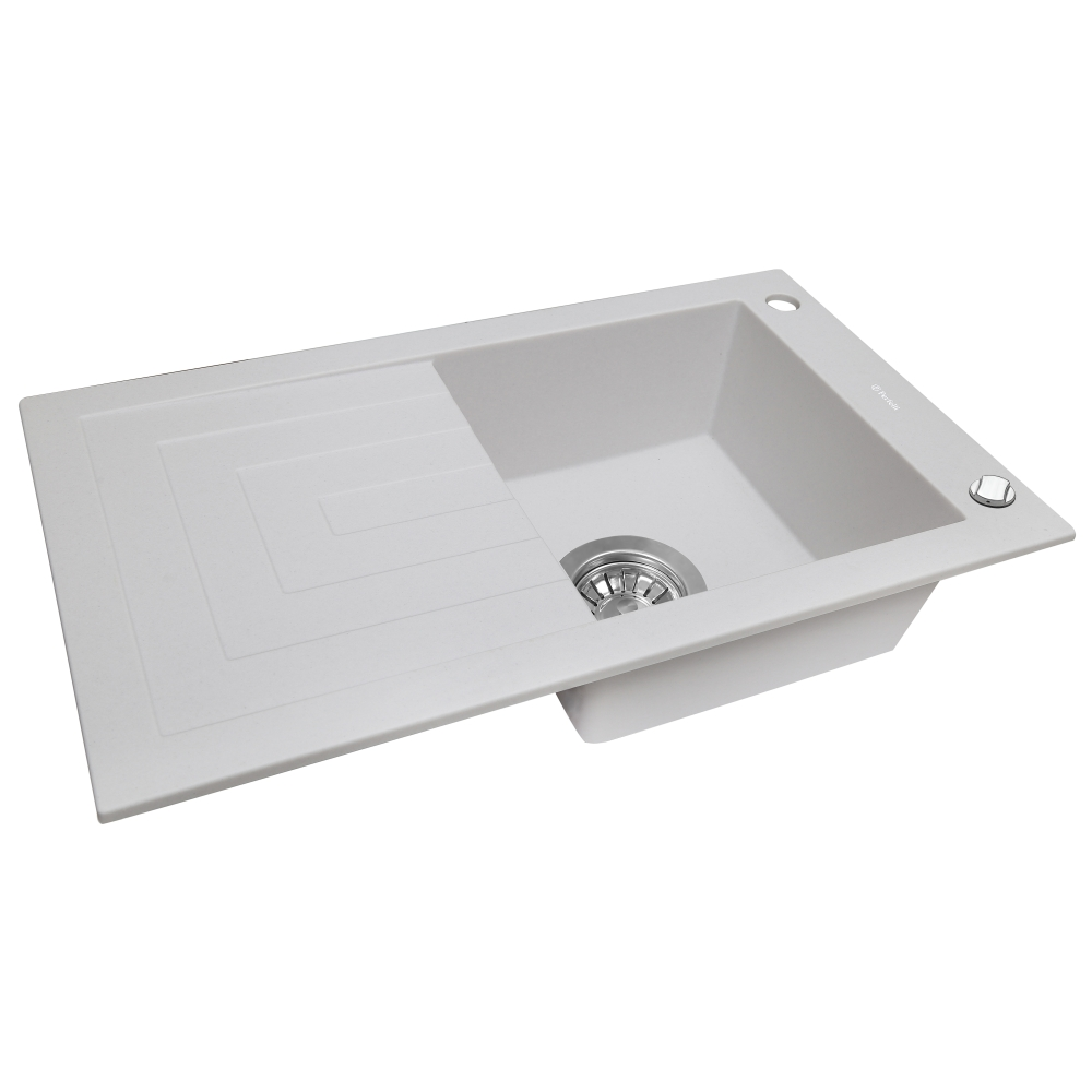 Мойка кухонная гранитная  Perfelli AZZURO PGA 115-78 WHITE