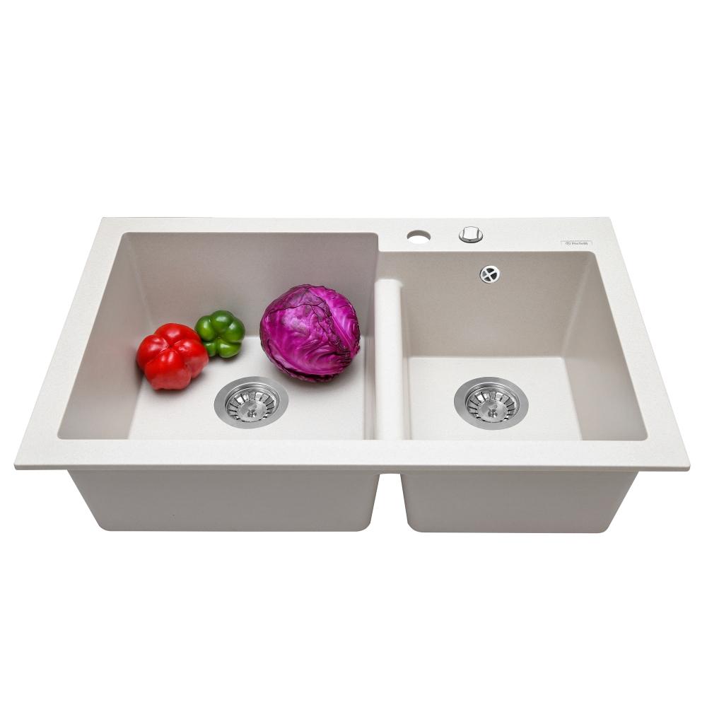 Lavello da cucina in granito Perfelli BIANCO PGB 208-79 LIGHT BEIGE