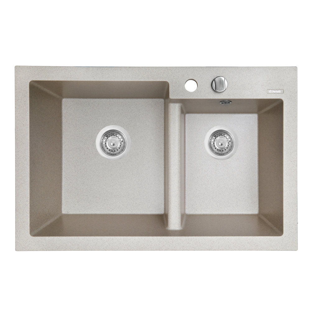 Granite kitchen sink Perfelli BIANCO PGB 208-79 SAND