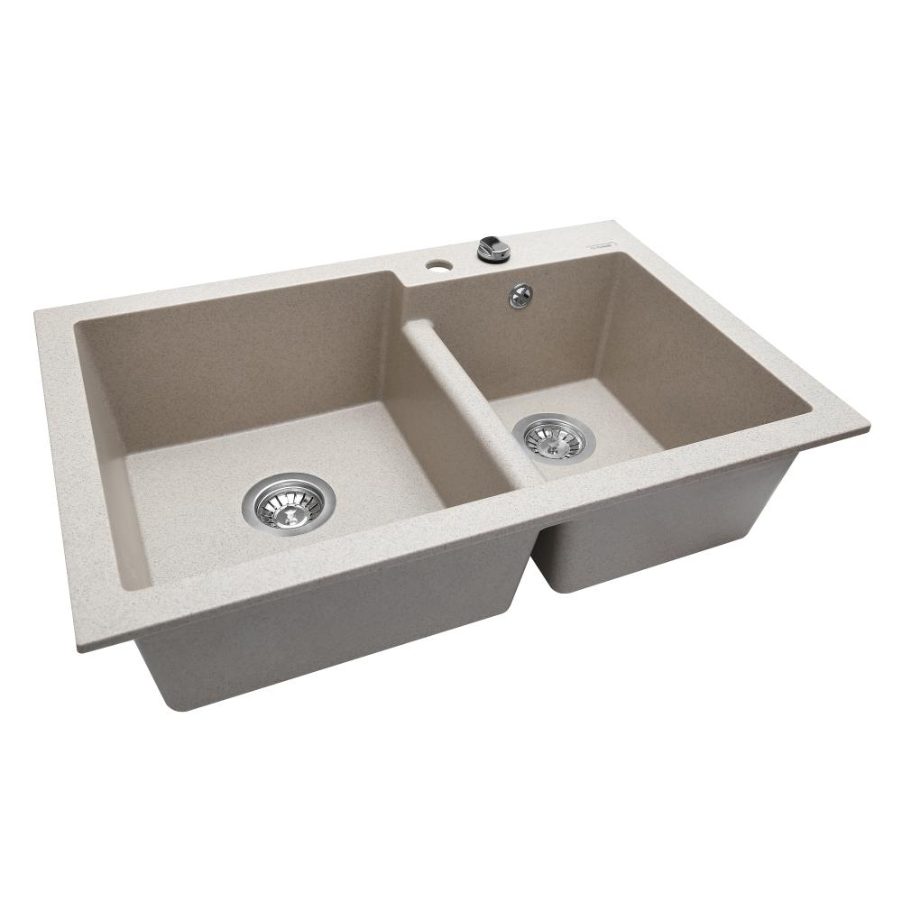 Lavello da cucina in granito Perfelli BIANCO PGB 208-79 SAND