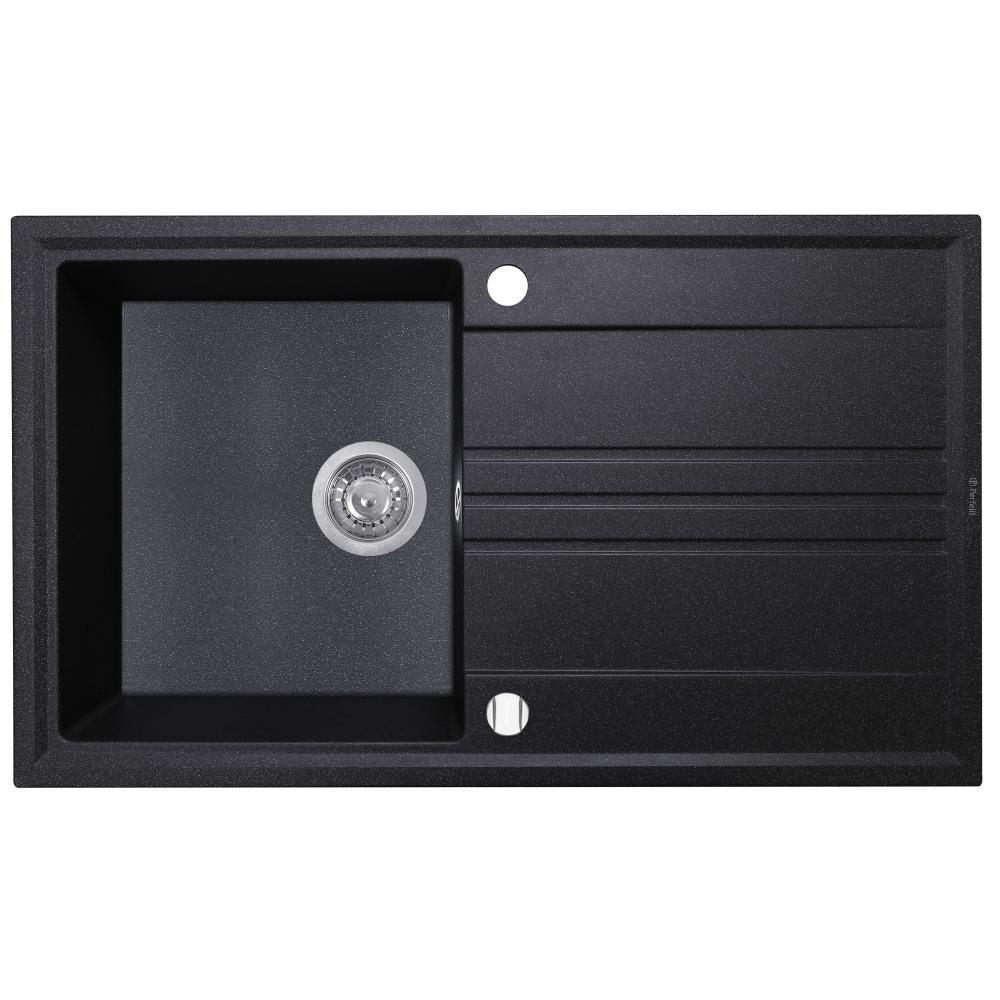 Granite kitchen sink Perfelli CAPIANO PGC 114-86 BLACK
