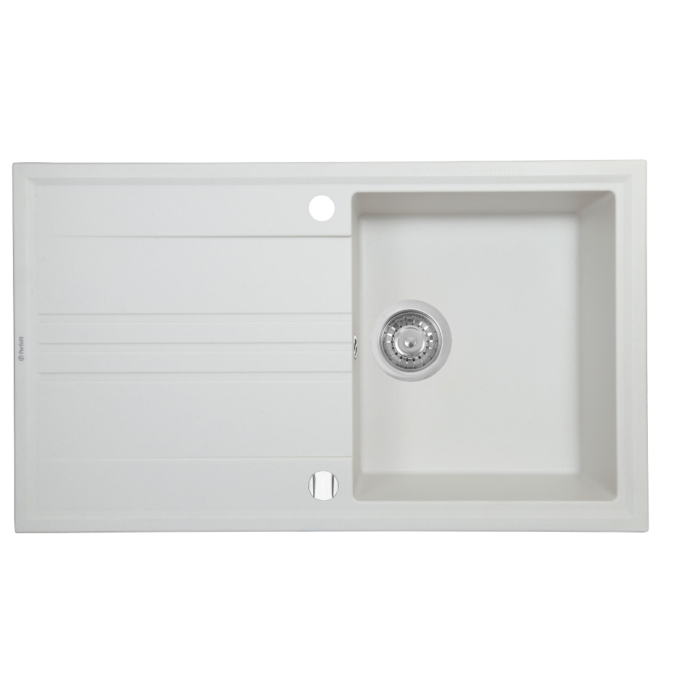 Granite kitchen sink Perfelli CAPIANO PGC 114-86 WHITE