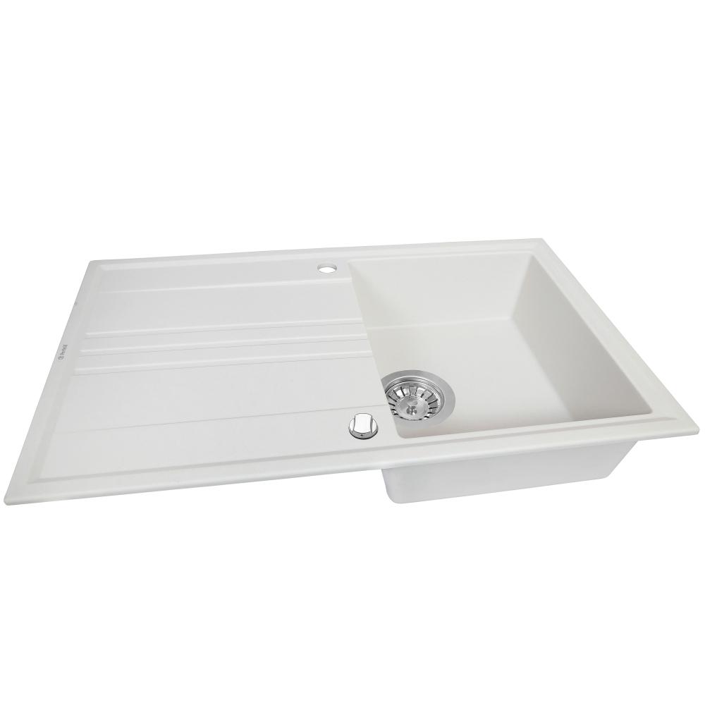 Мойка кухонная гранитная  Perfelli CAPIANO PGC 114-86 WHITE