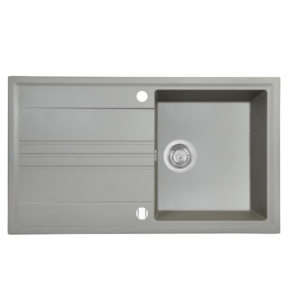 Granite kitchen sink Perfelli CAPIANO PGC 1141-86 GREY METALLIC