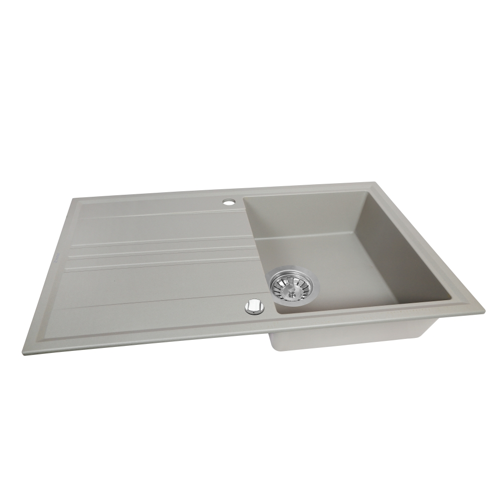 Мойка кухонная гранитная  Perfelli CAPIANO PGC 1141-86 GREY METALLIC