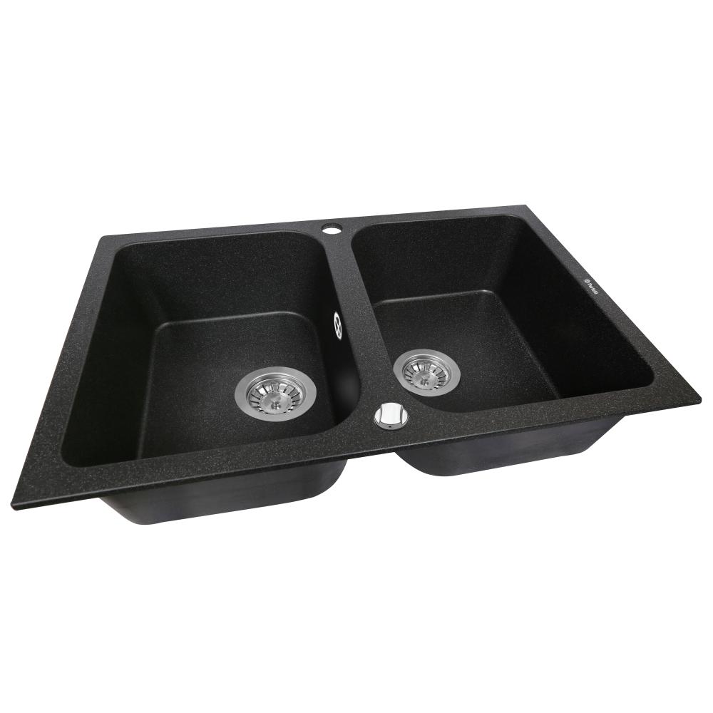 Granite kitchen sink Perfelli CELINE PGC 208-76 BLACK