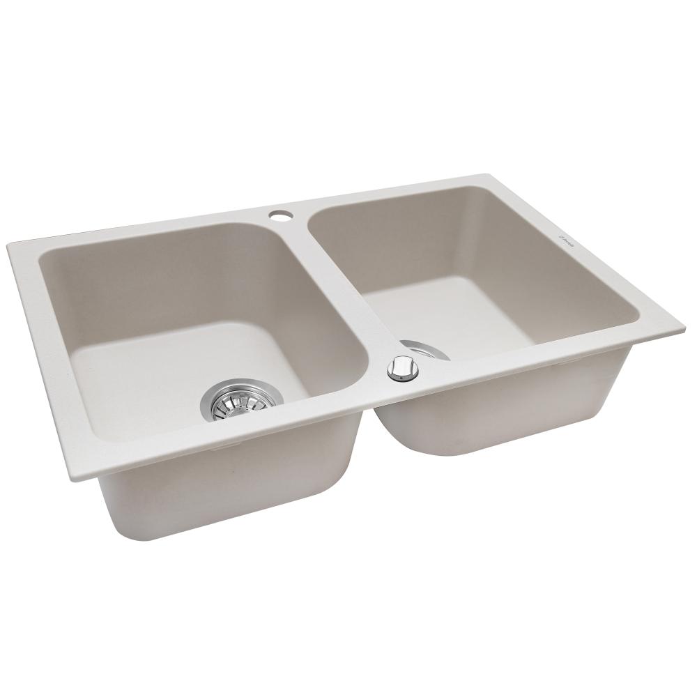 Granite kitchen sink Perfelli CELINE PGC 208-76 LIGHT BEIGE