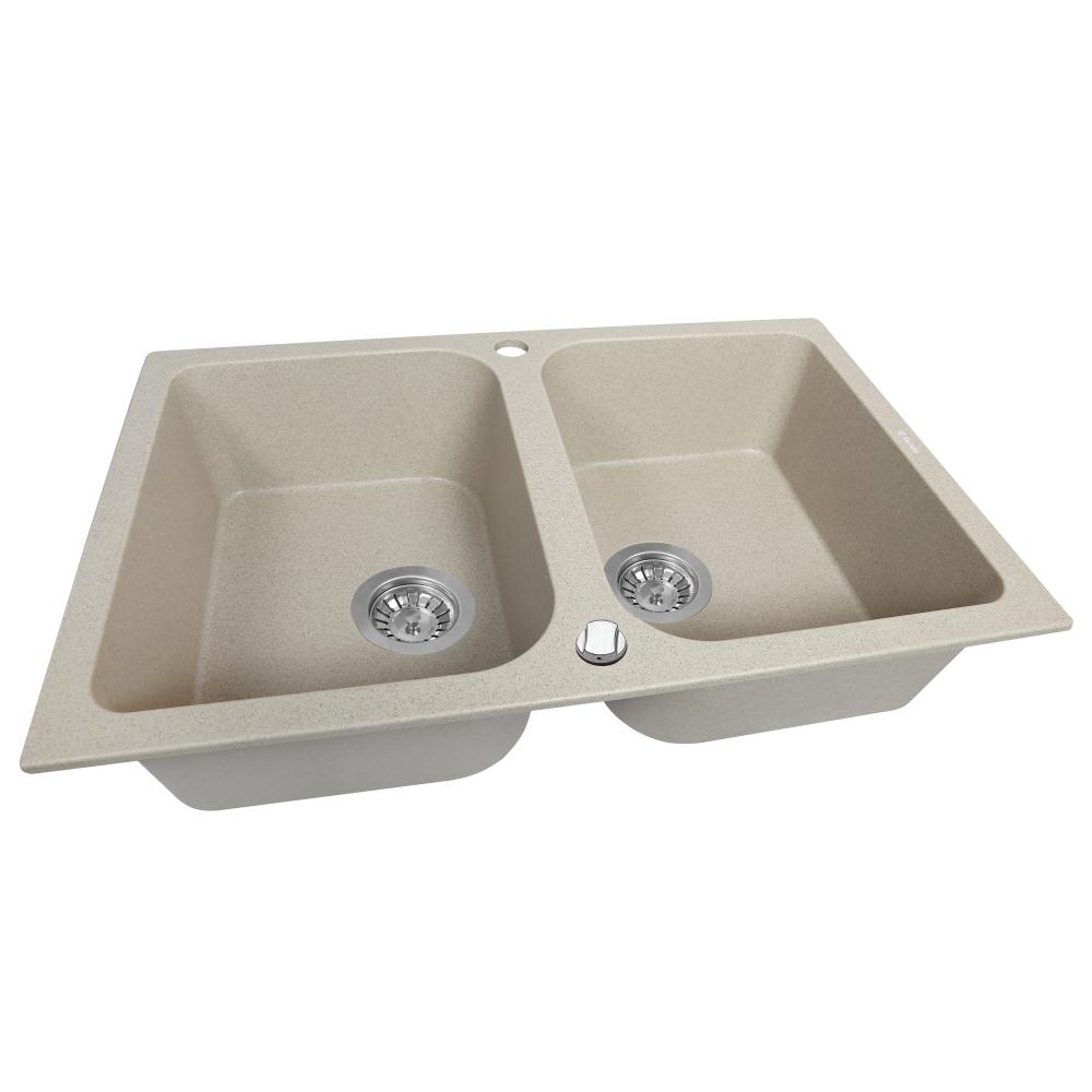 Granite kitchen sink Perfelli CELINE PGC 208-76 SAND