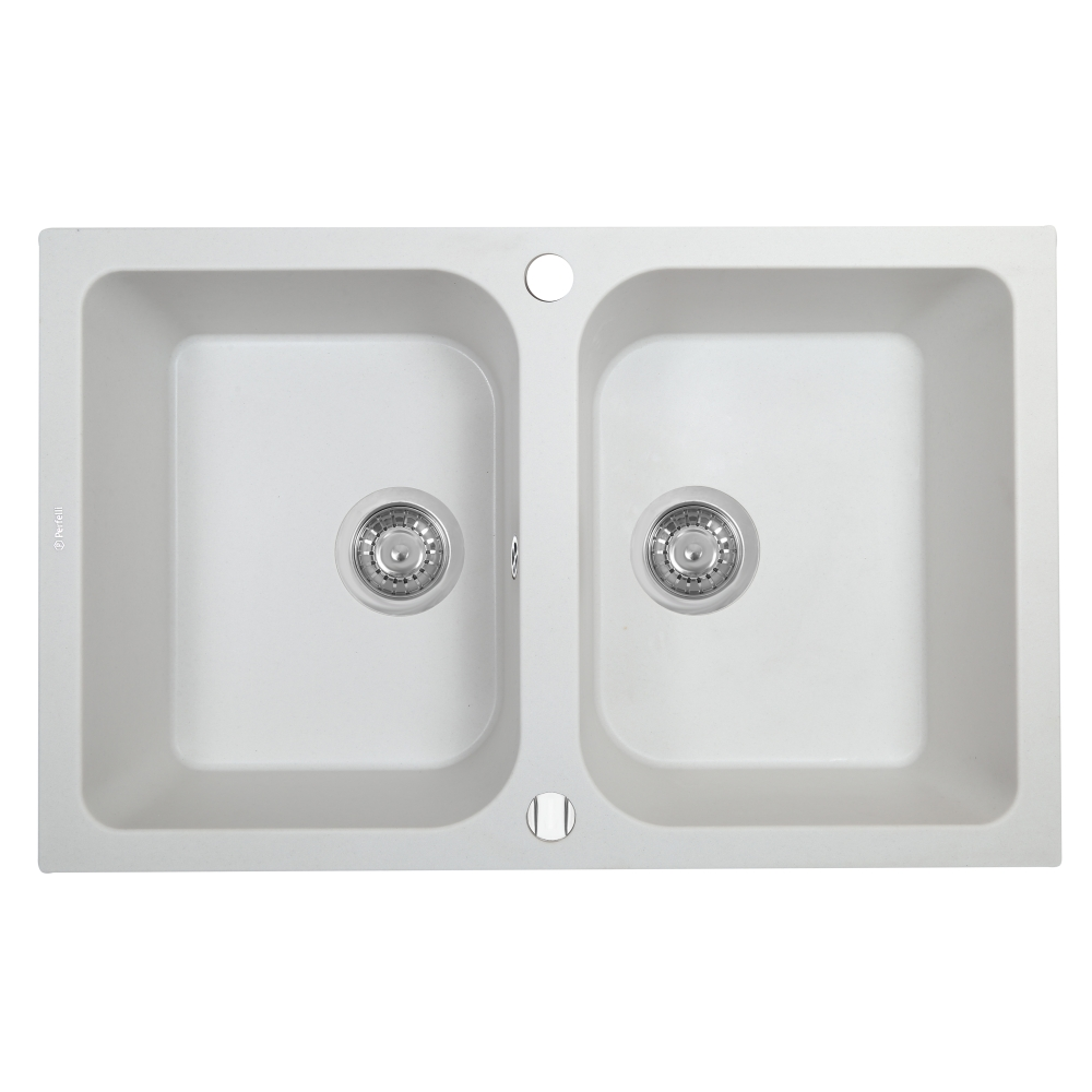 Lavello da cucina in granito Perfelli CELINE PGC 208-76 WHITE