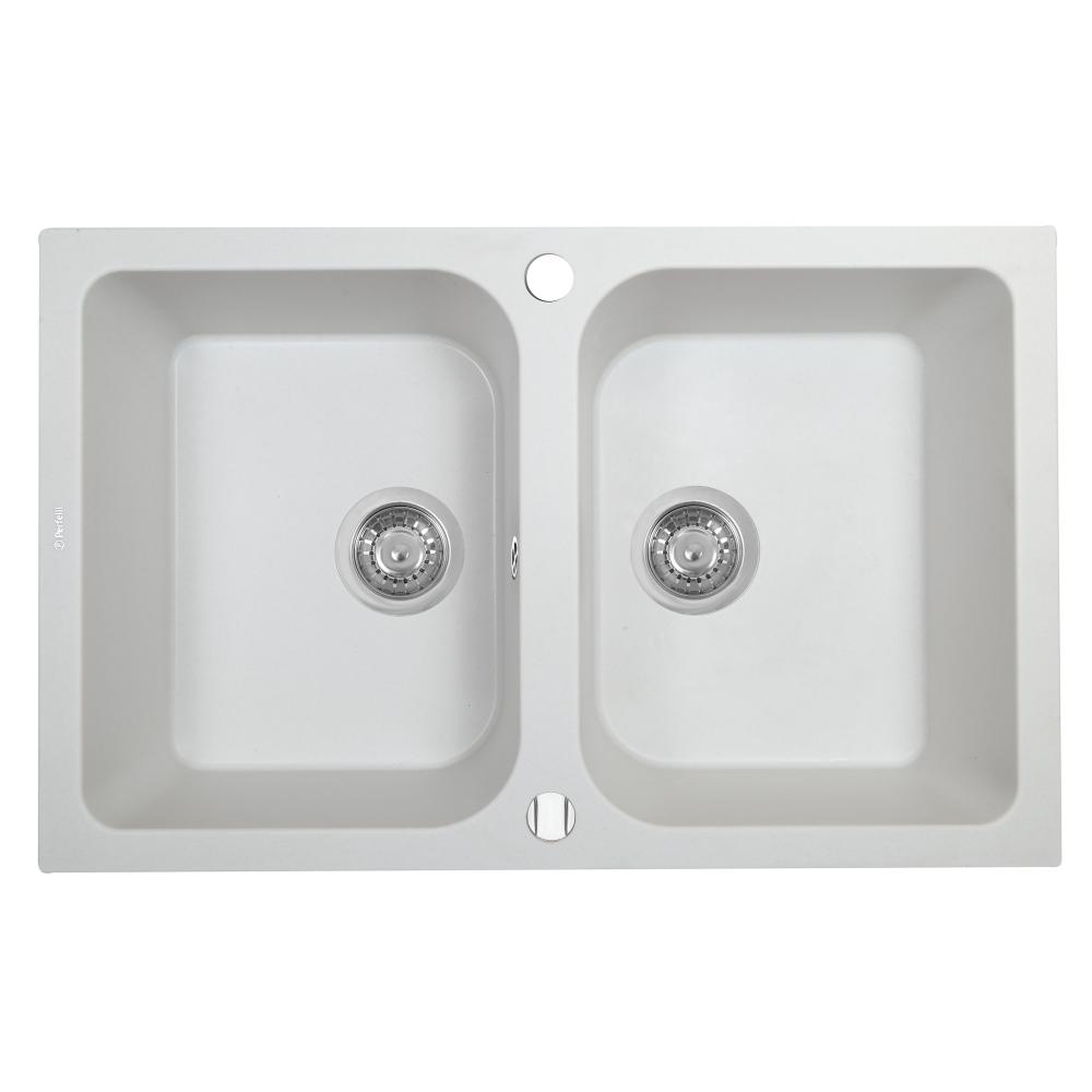 Мойка кухонная гранитная Perfelli CELINE PGC 208-76 WHITE