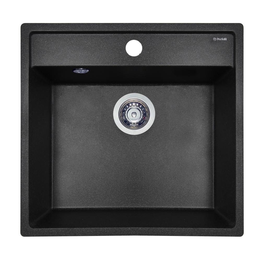 Granite kitchen sink Perfelli ESOTTO PGE 10-50 BLACK