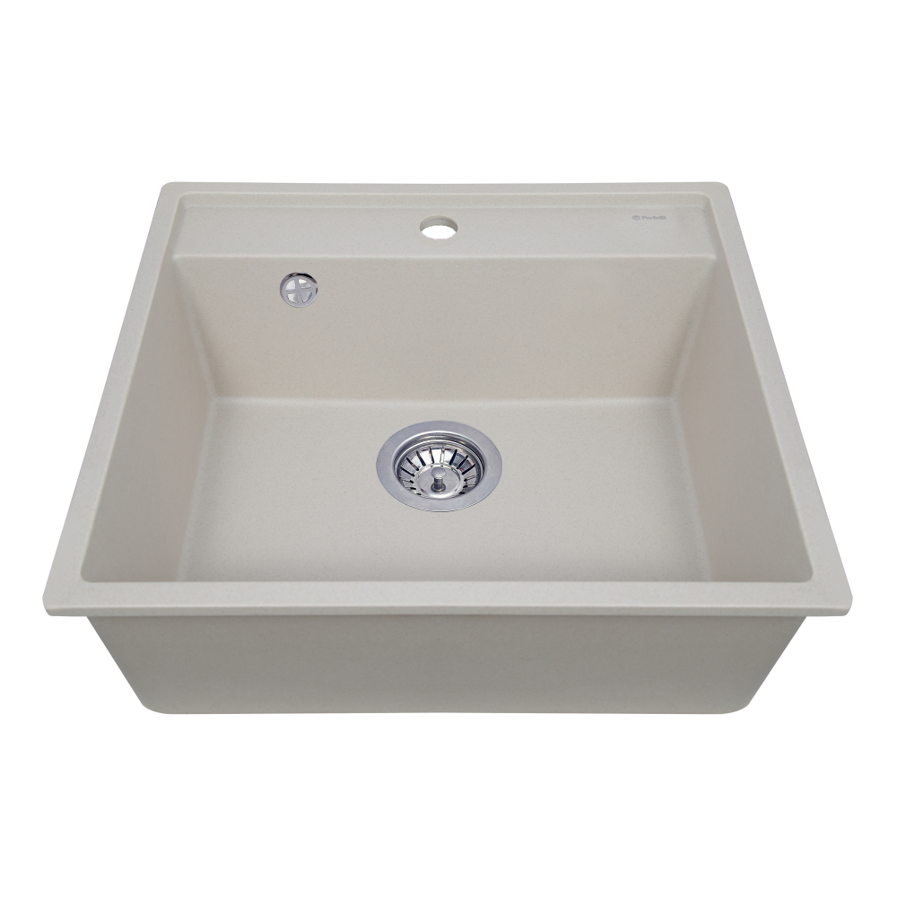 Granite kitchen sink Perfelli ESOTTO PGE 10-50 LIGHT BEIGE