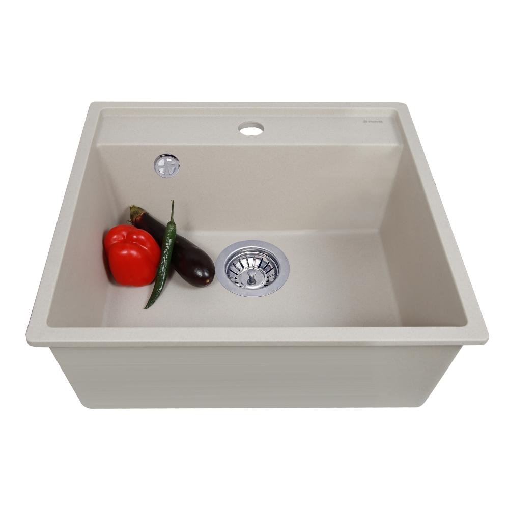 Lavello da cucina in granito Perfelli ESOTTO PGE 10-50 LIGHT BEIGE