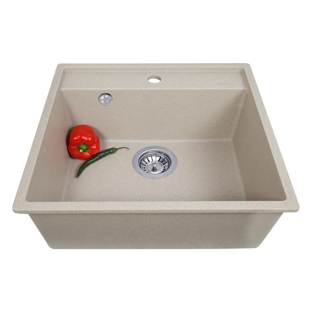 Granite kitchen sink Perfelli ESOTTO PGE 10-50 SAND