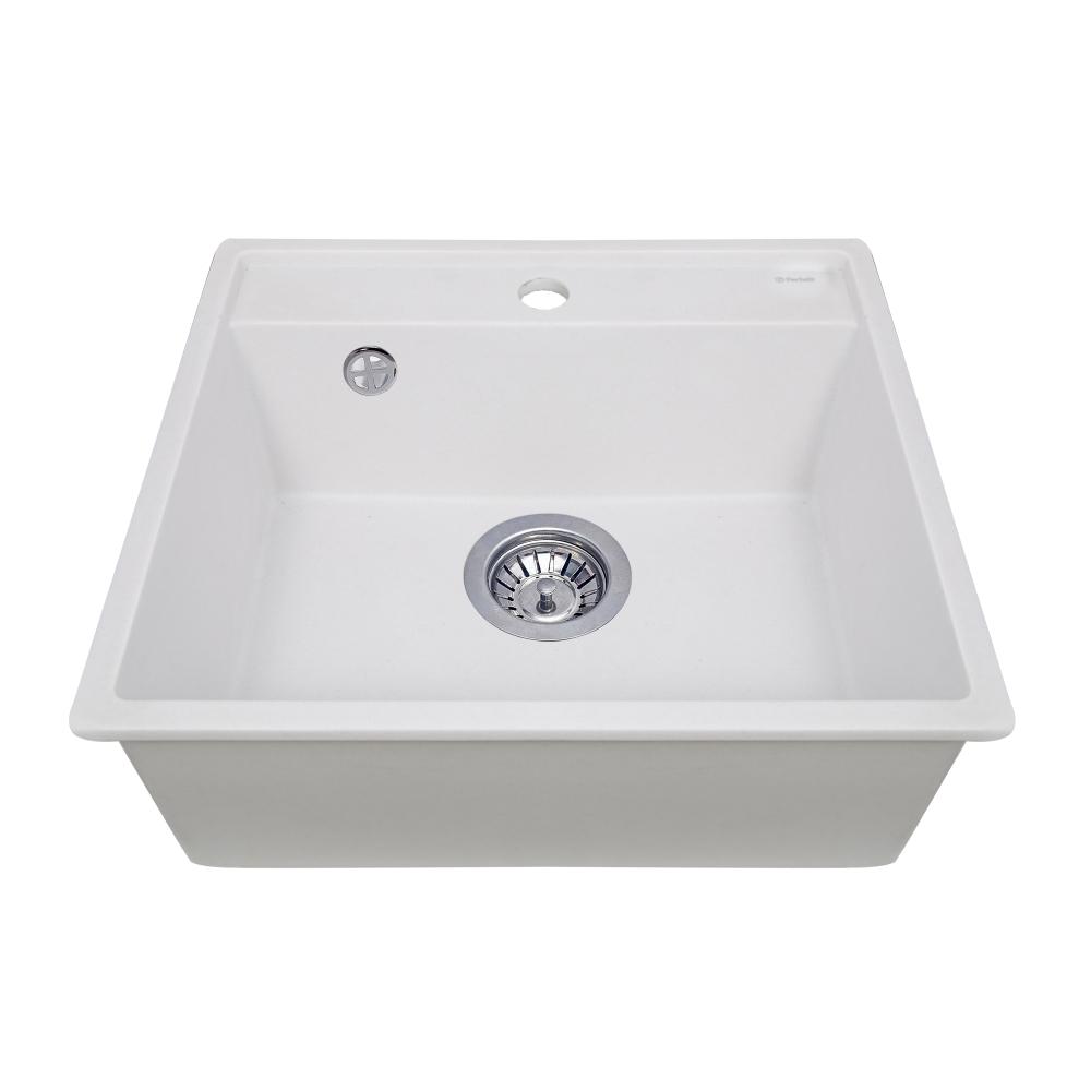 Granite kitchen sink Perfelli ESOTTO PGE 10-50 WHITE