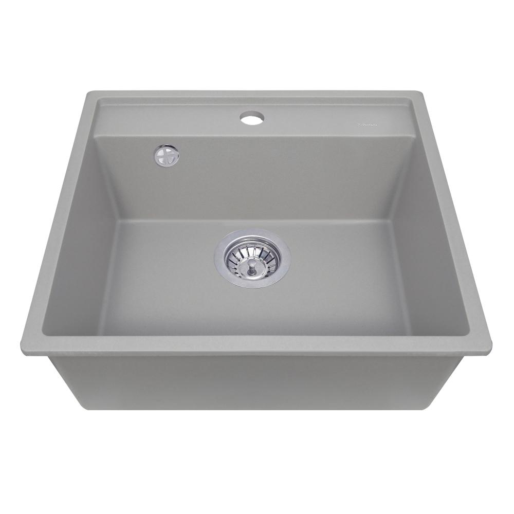 Granite kitchen sink Perfelli ESOTTO PGE 101-50 GREY METALLIC