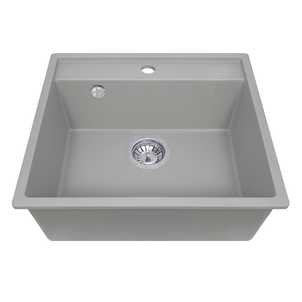 Мойка кухонная гранитная  Perfelli ESOTTO PGE 101-50 GREY METALLIC