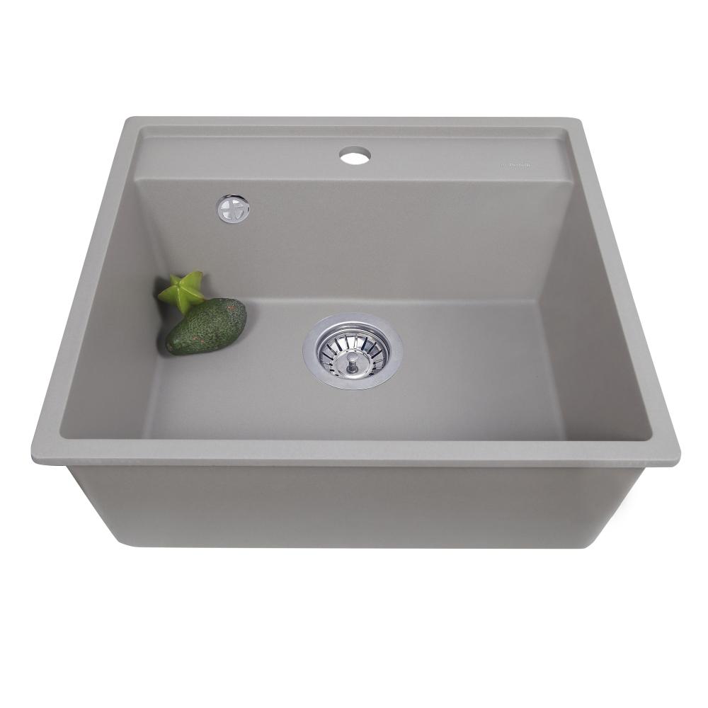 Мийка кухонна гранітна  Perfelli ESOTTO PGE 101-50 GREY METALLIC