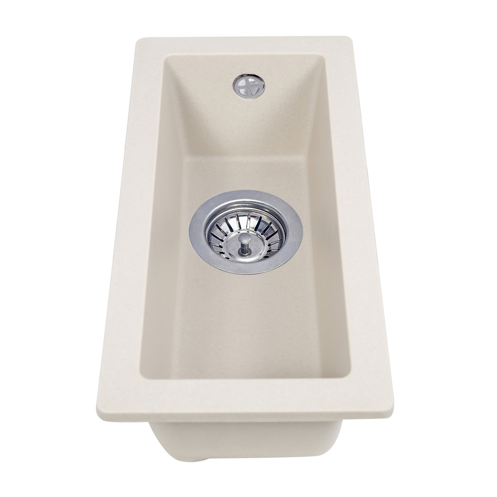 Granite kitchen sink Perfelli ESTO PGE 10-22 LIGHT BEIGE