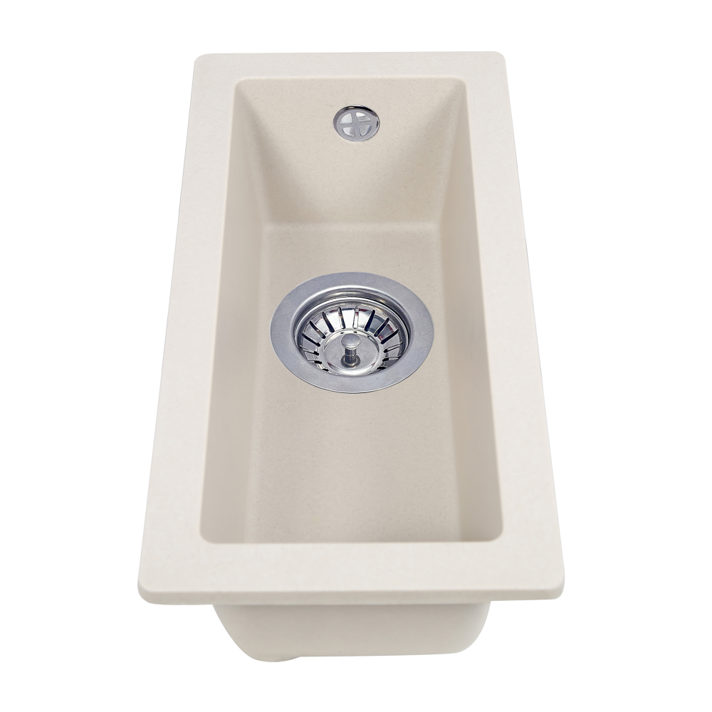 Granite kitchen sink Perfelli ESTO PGE 10-22 LIGHT BEIGE