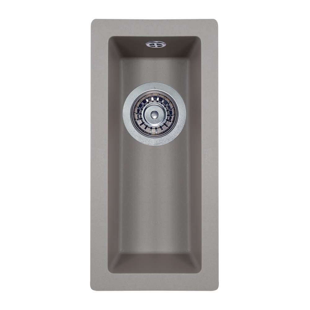 Мийка кухонна гранітна  Perfelli ESTO PGE 101-22 GREY METALLIC