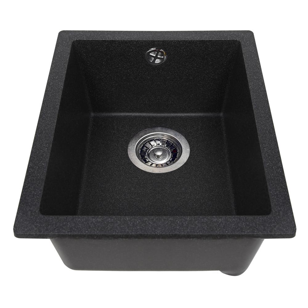 Granite kitchen sink Perfelli ESTO PGE 10-38 BLACK