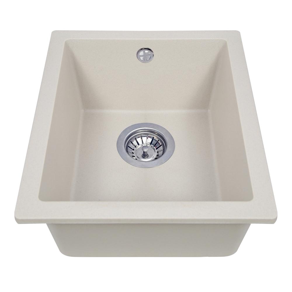 Granite kitchen sink Perfelli ESTO PGE 10-38 LIGHT BEIGE