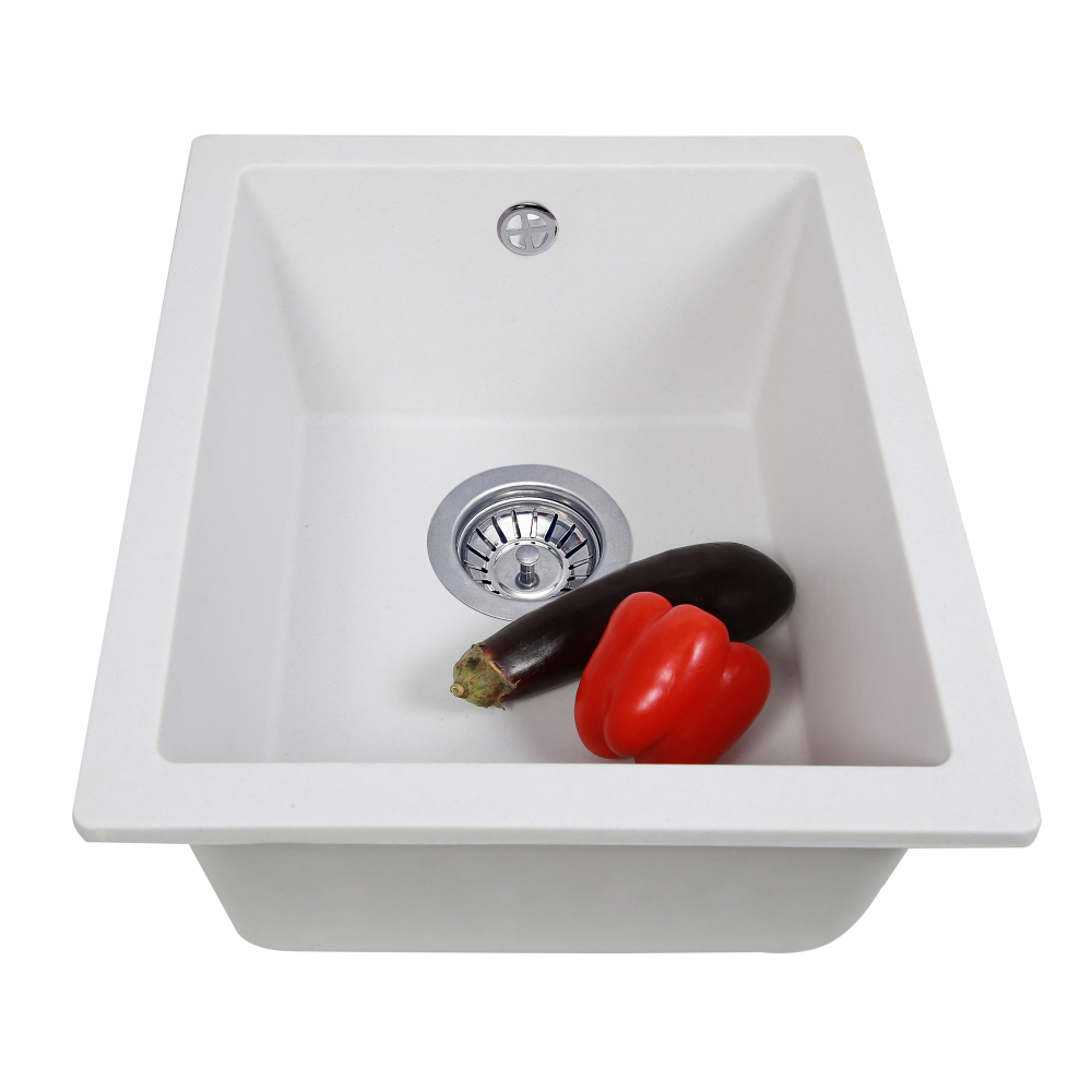 Granite kitchen sink Perfelli ESTO PGE 10-38 WHITE